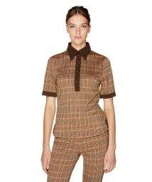BENETTON (women)/ジャージーチェックポロシャツ/502571136