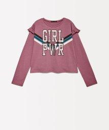 SISLEY YOUNG/ガールパワーショルダーフリルTシャツ・カットソー/502571595