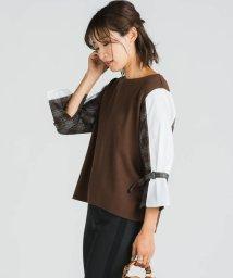 MAYSON GREY/異素材シャツ袖プルオーバー/502569605