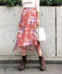 31 Sons de mode/【美人百花11月号掲載】レイヤードオーガンジー花柄スカート/502575298