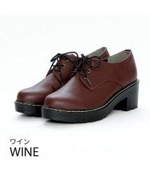 Vivian/厚底レースアップマニッシュシューズ/502579185