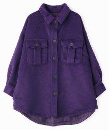Grand PARK/オーバーサイズシャギーシャツアウター/502425413