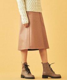 TOMORROWLAND/フェイクレザー トラペーズスカート/502583451