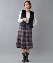 Leilian/フェイクファー切り替えベスト/502505460
