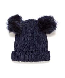BENETTON (UNITED COLORS OF BENETTON GIRLS)/ミミぽんぽんリブニットキャップ・ニット帽/502579607