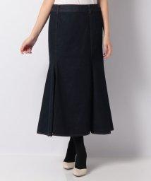 LAPINE BLEUE/【洗える】ワンウォッシュデニム マーメイドスカート/502581225