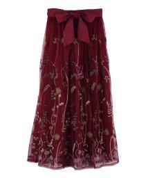 axes femme/ボタニカル刺繍スカート/502582832