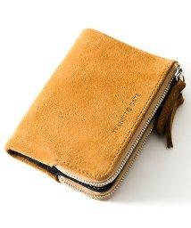 DEVICE/TransitGate G5 スエード ダブルジップ 二つ折り財布 ミニ ウォレット/502584849