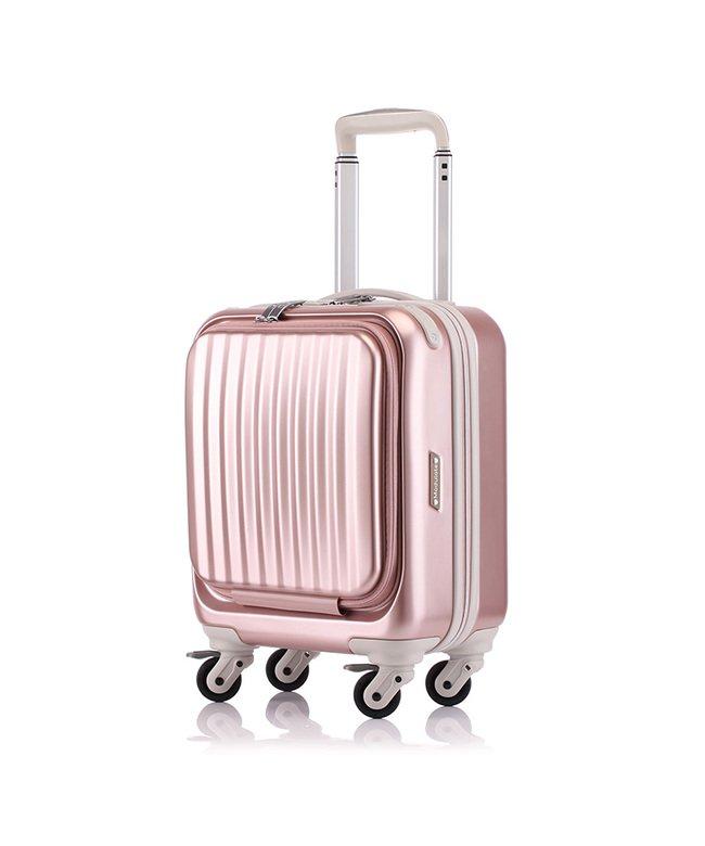 カバンのセレクション サンコー スーツケース 機内持ち込み 23L LCC フロントオープン コインロッカー SUNCO mdlz−37 ユニセックス ピンク フリー 【Bag & Luggage SELECTION】