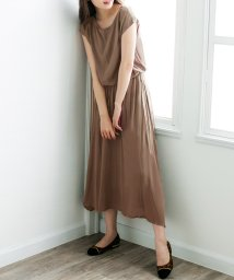 Julia Boutique/タッセル付きフレンチスリーブマキシワンピース/510410/502585544