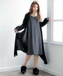 Julia Boutique/七分袖ワンピース&ロングトッパーセット/510440/502585551