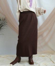 ANDJ/【ANDJ MADE】ベーシックリブニットロングスカート/502586916