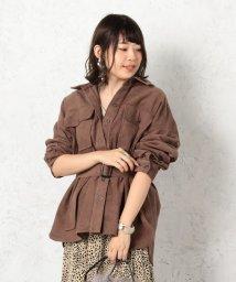 Cheek/ベルト付きシャツジャケット/502469833