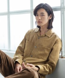 coen/スエードタッチオープンカラーシャツ/502559499