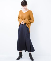 haco!/スウェットやスニーカーを合わせても女っぽくいられるサテンマーメイドスカート by que made me/502567779