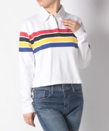 LEVI'S LADY/SHORT RUGBY TEE WESTLEY WHITE+ GROUD STR/502571080