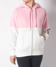 LEVI'S LADY/COLOUR BLOCK ZIP HOODIE LIGHT PINK TOP B/502571094