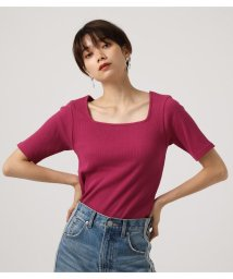 AZUL by moussy/SQUARE NECK CUT RIB TOPS/502588640