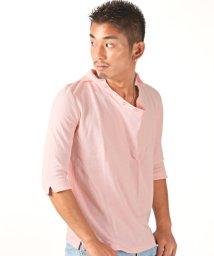 LUXSTYLE/ドレープ鹿の子五分袖ポロシャツ/ポロシャツ メンズ 5分袖 ドレープ 鹿の子/502588789