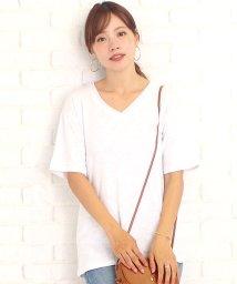 Amulet/シンプルVネックTシャツ韓国ファッションレディースコットンスリム通気性涼しい【vl-5223】【S/S】/502588803