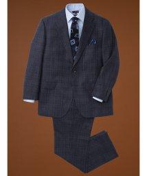 GRAND-BACK/【大きいサイズ】アレキサンダージュリアン/ALEXANDER JULIAN マルゾット/MARZOTTO  ウール2ピーススーツ ウィンドペン紺/502589402
