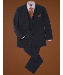 GRAND-BACK/【大きいサイズ】アレキサンダージュリアン/ALEXANDER JULIAN マルゾット/MARZOTTO  ウール混3ピーススーツ グレンチェック紺/502589404