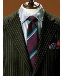 GRAND-BACK/【大きいサイズ】アレキサンダージュリアン/ALEXANDER JULIAN AJ by FAIRFAX 日本製シルクストライプ レギュラータイ8.5cm幅/502589626
