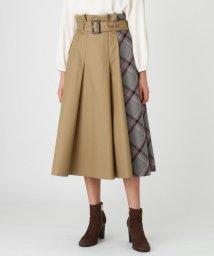 BLUE LABEL CRESTBRIDGE/ブリットチェックパーシャルスカート/502590954