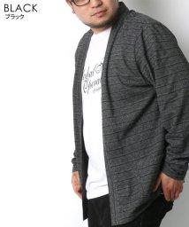 MARUKAWA/大きいサイズ 杢ボーダー 釦レスカーディガン 半袖Tシャツ セット/502545377