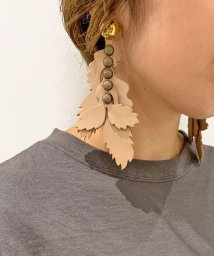 UNCUT BOUND/THE Dallas(ザ・ダラス)  leather shadow earring / レザー シャドウ イヤリング /D9A-65/502592033