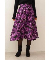 PROPORTION BODY DRESSING/◆フラワージャガードイレヘムフレアースカート/502592411
