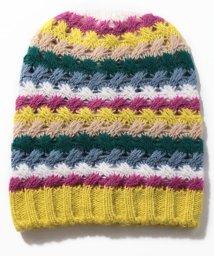 BENETTON (women)/ウールマルチボーダーニットワッチキャップ・ニット帽/502571157