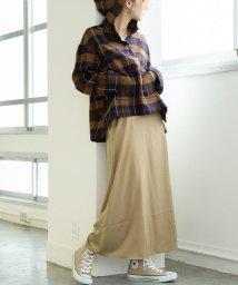coen/【新色:ワインレッド登場】パウダータッチサテンロングスカート/502594325