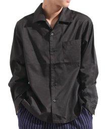Valletta/【Valletta】 無地 ストライプ柄長袖オープンカラーシャツ[171901] ストライプ柄 無地 開襟 開襟シャツ シンプル ビッグシャツ ワイ/502594479