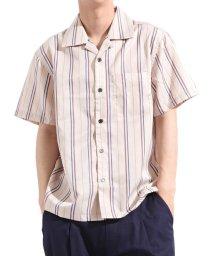 Valletta/【Valletta】 無地 ストライプ柄半袖オープンカラーシャツ[171903] ストライプ柄 無地 開襟 開襟シャツ シンプル ビッグシャツ ワイ/502594480
