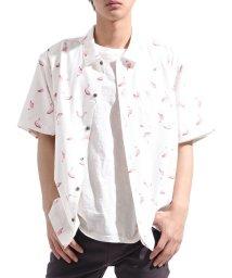 Valletta/【Valletta】 総柄プリントストレッチ半袖シャツ[194034] シャツ フラミンゴ ビッグシャツ ワイドシャツ 半袖シャツ 半袖 ビッグ ワ/502594488