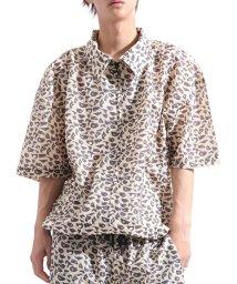 Valletta/【Valletta】 半袖 総柄ビッグドリズラージャケット[923-001] ドリズラーシャツ レオパード フラミンゴ ビッグシャツ ワイドシャツ /502594566