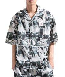 Valletta/【Valletta】 半袖 総柄オープンカラービッグ開襟シャツ[924-001] 開襟 開襟シャツ レオパード フラミンゴ ビッグシャツ ワイドシャ/502594567
