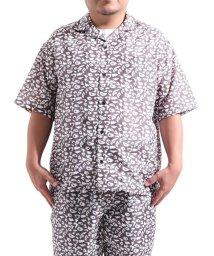 Valletta/【Valletta】 大きいサイズ 半袖 総柄オープンカラービッグ開襟シャツ[924-002] キングサイズ おおきいサイズ 大きめ ゆったり 開襟/502594568