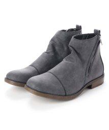 BRACCIANO/ブラッチャーノ Bracciano ブーツ メンズ サイドジップ ショート ドレープブーツ (CHARCOAL) /502595382