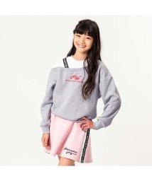 ALGY/ニコ☆プチ10月号掲載 |ワンショル風トレーナー&ラインスカートセット_裏起毛/502379609