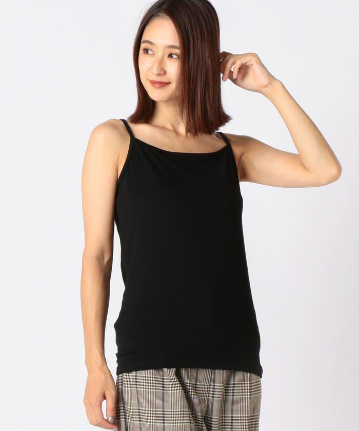 ミューズ リファインド クローズ ヒートウォームキャミソール レディース クロ L 【MEW'S REFINED CLOTHES】