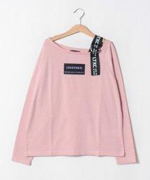 Lovetoxic/ ワンショルダーロゴTシャツ/502578513