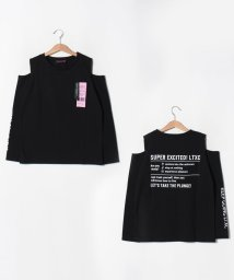 Lovetoxic/ 肩開きタグつきTシャツ/502578514