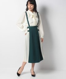 axes femme/サイドプリーツバックル付スカート/502585490