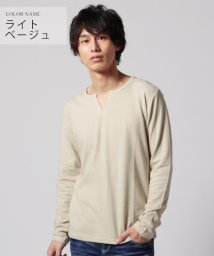 THE CASUAL/(ネバー) NEVER ハニカムキーネック長袖カットソー/502590822