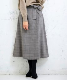 Perle Peche OUTLET/ラップ風リボンベルトスカート/502598018