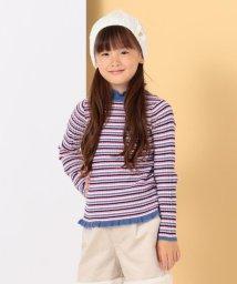 KUMIKYOKU KIDS/【ひなちゃん着用/110-140cm】レトロボーダー ニット/502598522