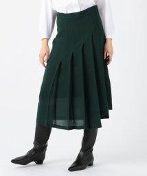 TOMORROWLAND collection/ドライクロス アシンメトリープリーツスカート/502598688