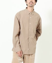coen/オルタネイトストライプレギュラーシャツ/502553182